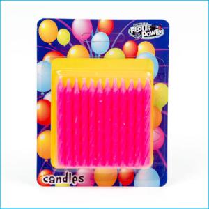 Candle Spiral Pink Pk 24