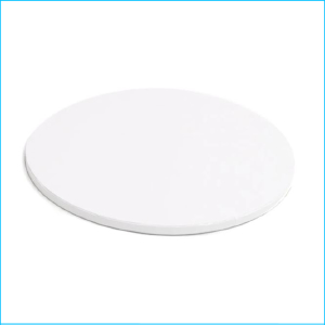 Cake Board Drum Round White 14""