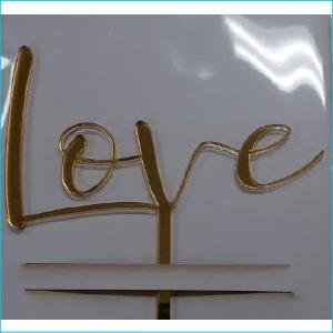 Cake Topper Love Gold