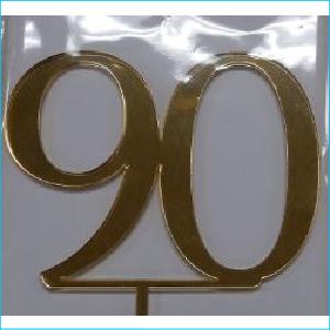 Cake Topper Gold Number 90