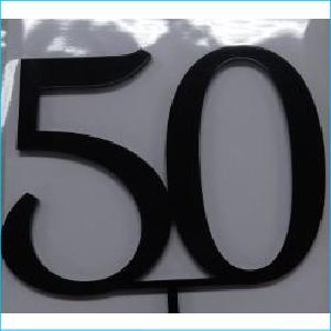 Cake Topper Black Number 50