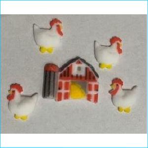 Sugar Decoration Farm Animals Pk 11