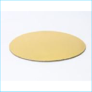 "Cake Cardboard Round Gold 4"""