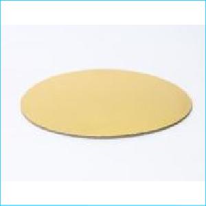 "Cake Cardboard Round Gold 5"""