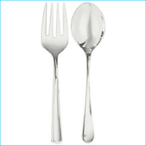 Catering Serving Fork & Spoon Pk 4