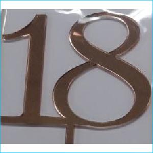 Cake Topper Rose Gold Number 18