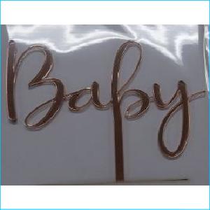 Cake Topper Baby Rose Gold