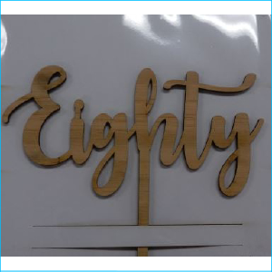Cake Topper Eighty Bamboo