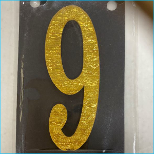 Cake Topper Mini Gold Number 9