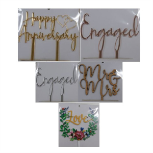 Love, Anniversary & Wedding Toppers