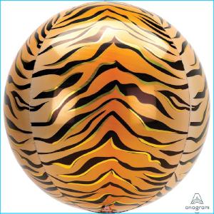 Orbz Foil Animal Print Tiger 38cm