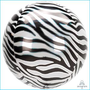 Orbz Foil Animal Print Zebra 38cm