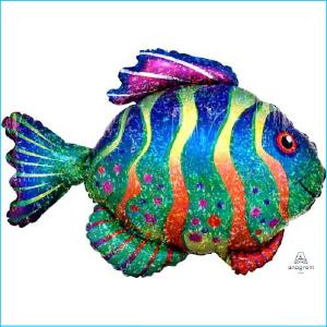 Foil Sealife Holographic Fish 83cm