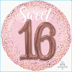 Foil 16th Birthday Blush 68cm