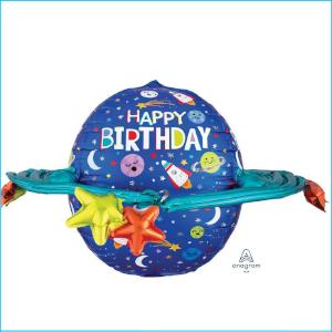 Foil Space Happy Birthday Galaxy 73cm