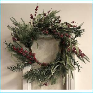Wreath Glitter & Berry Pine XX8093