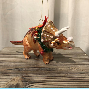 Dinosaur Triceratops with Wreath