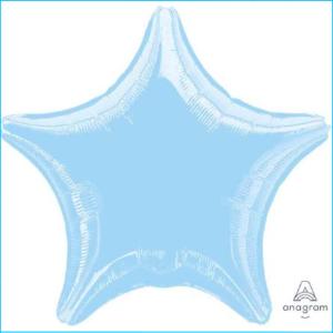 Foil 45cm Star Metallic Pastel Blue