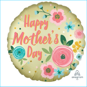 Foil Happy Mother's Day Pastel Yellow 45