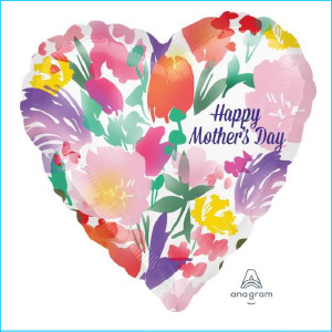 Foil Happy Mother's Day Heart Floral 71c