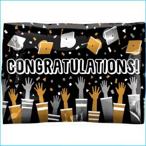 Foil Congratulations Graduation Cap Toss