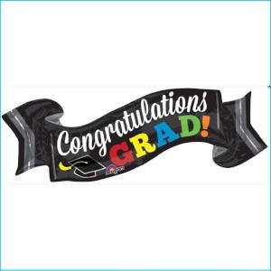 Foil Congratulations Graduation Banner 1