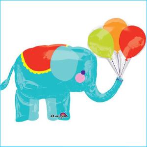 Foil Circus Elephant 91cm