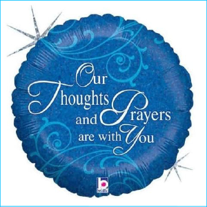 Foil Get Well Thoughts & Prayers 45cm