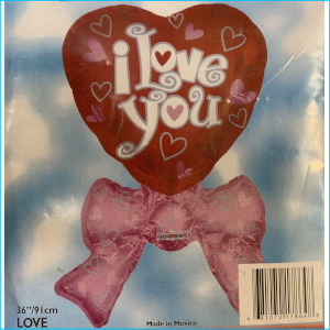 Foil Love Heart I Love You Bow 91cm