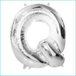 Foil 86cm Silver Letter Q Meteor