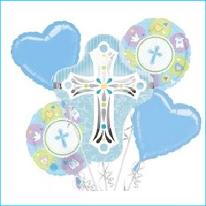 Foil Bouquet Blue Cross Set 5