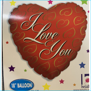 Foil Love Heart I Love You F 45cm