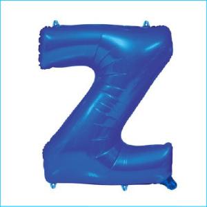 Foil 86cm Blue Letter Z