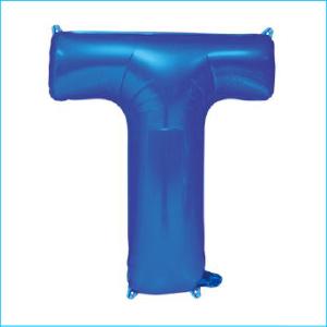 Foil 86cm Blue Letter T