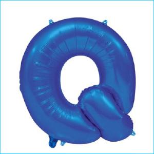 Foil 86cm Blue Letter Q
