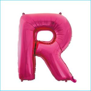 Foil 86cm Pink Letter R