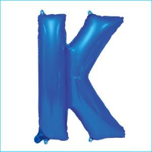 Foil 86cm Blue Letter K