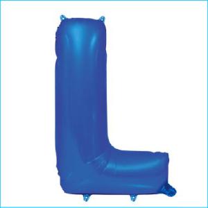 Foil 86cm Blue Letter L