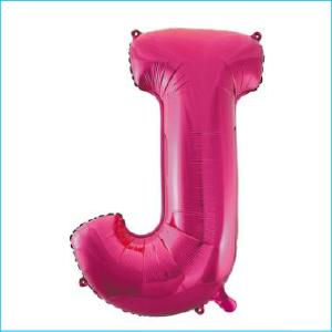Foil 86cm Pink Letter J