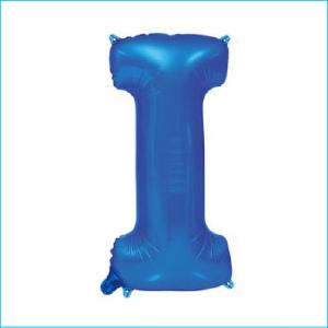 Foil 86cm Blue Letter I