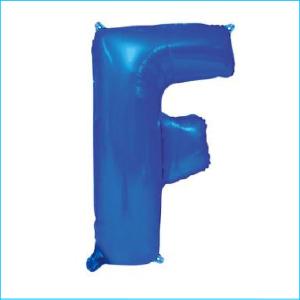 Foil 86cm Blue Letter F