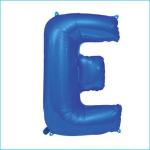 Foil 86cm Blue Letter E
