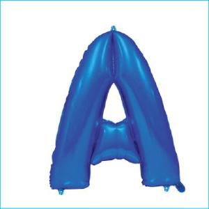 Foil 86cm Blue Letter A