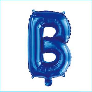 Foil 86cm Blue Letter B