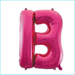 Foil 86cm Pink Letter B