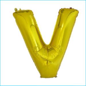 Foil 86cm Gold Letter V Meteor