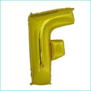 Foil 86cm Gold Letter F Meteor