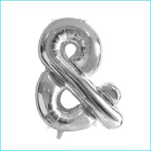 Foil 86cm Silver Letter & Meteor