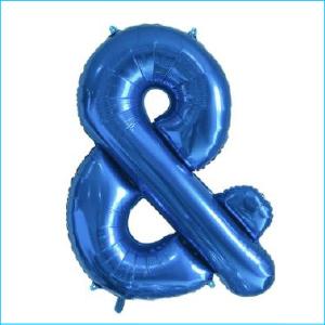 Foil 86cm Blue Letter &
