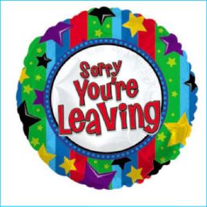 Foil Leaving Sorry 45cm